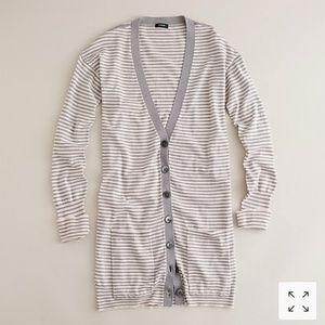 J.Crew Stripe Long Weekend Cardigan Size S